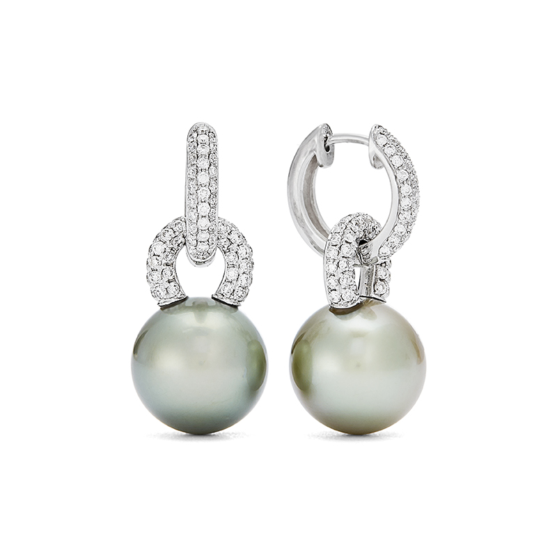 Pearl and Diamond Earring Drops