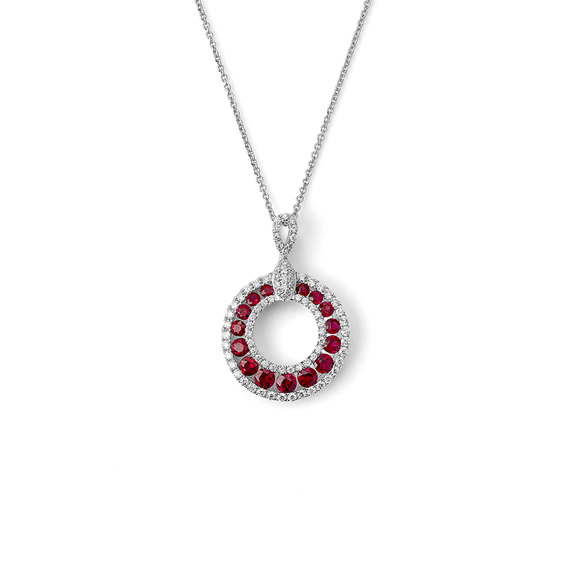 Ruby Crescentic Pendant