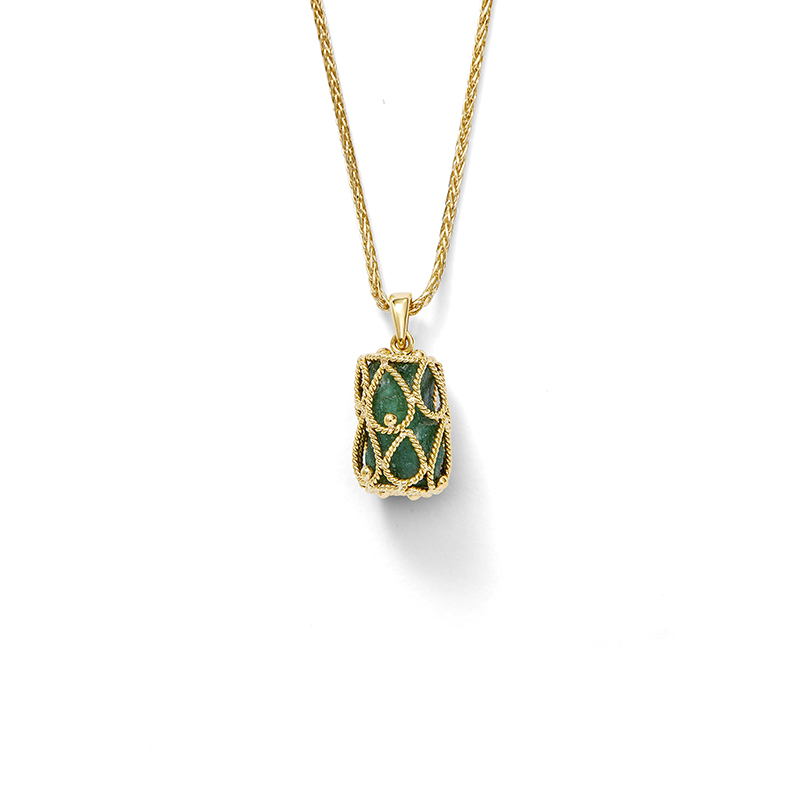 Rough Emerald Pendant