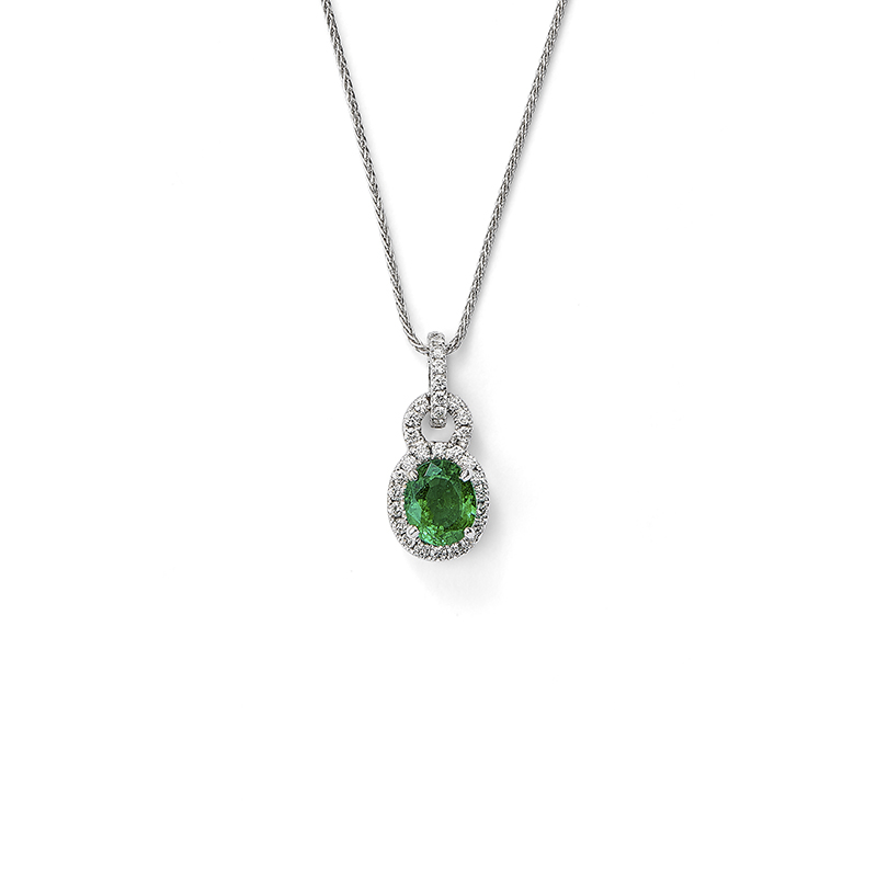 Emerald Door Knocker Pendant