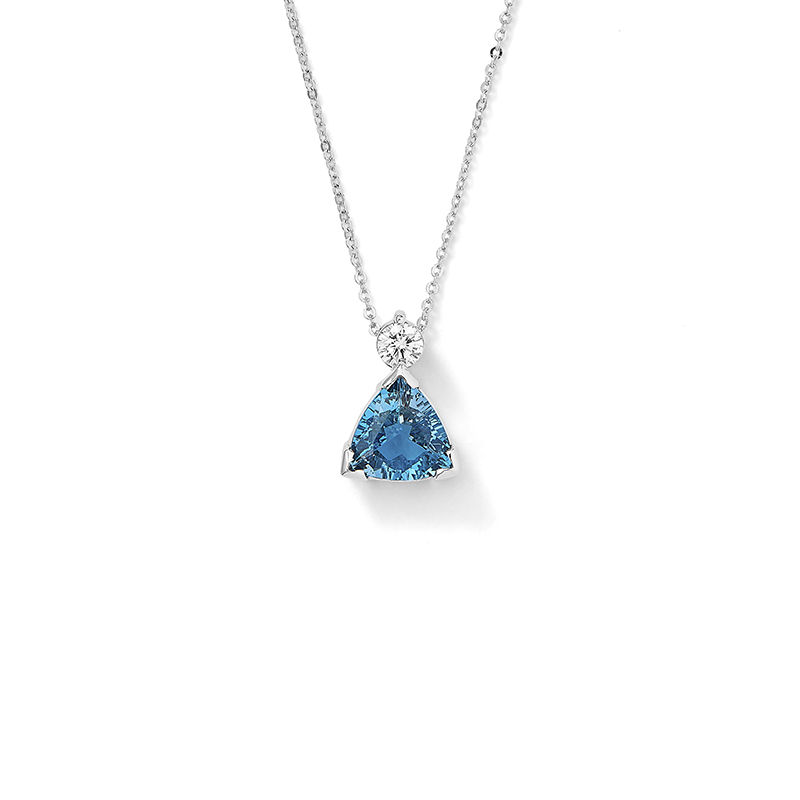 Trillion Aquamarine Pendant