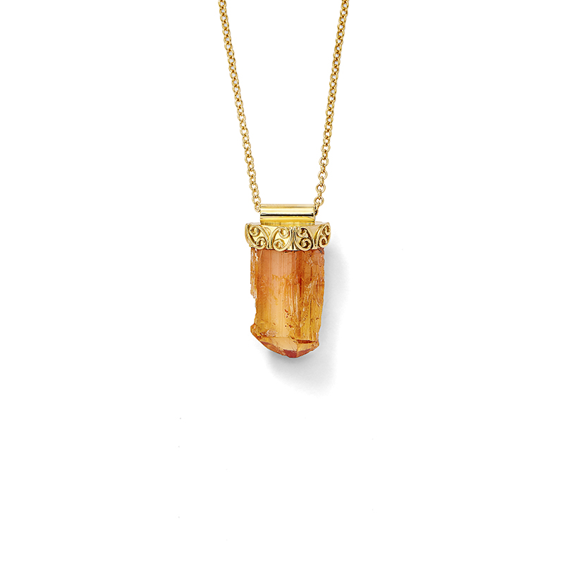 Rough Topaz Pendant