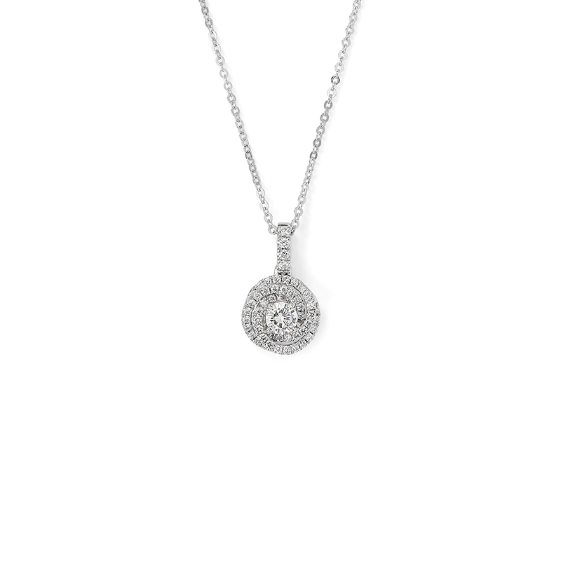 Interlocking Halo Diamond Pendant