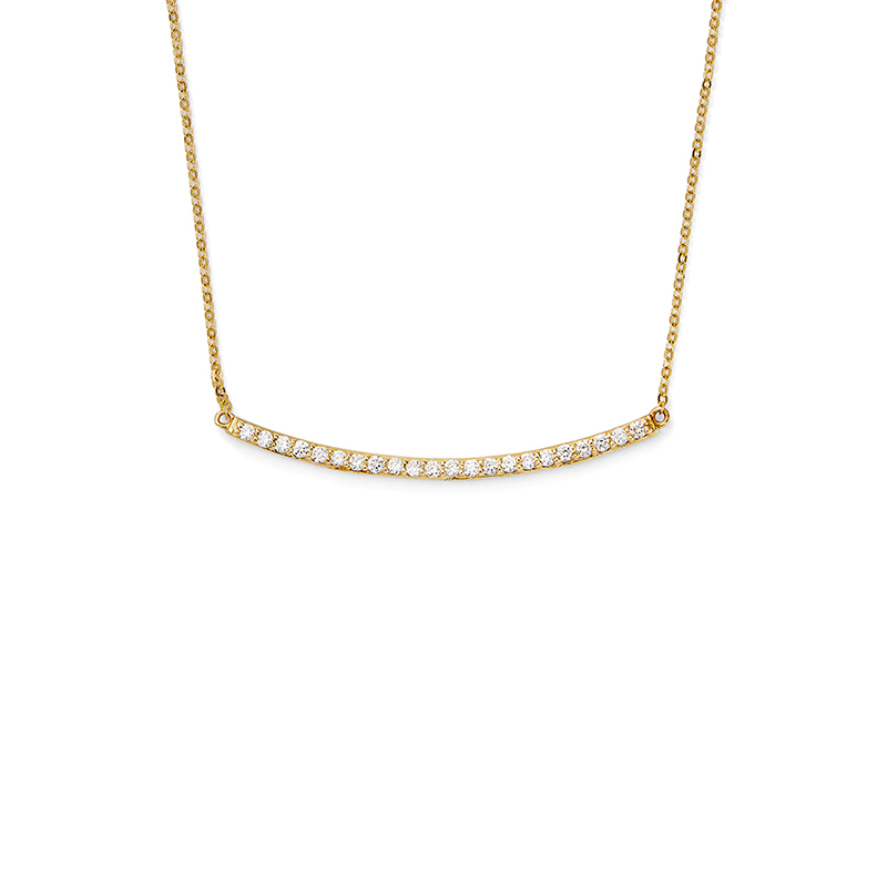 Curved Diamond Bar Pendant