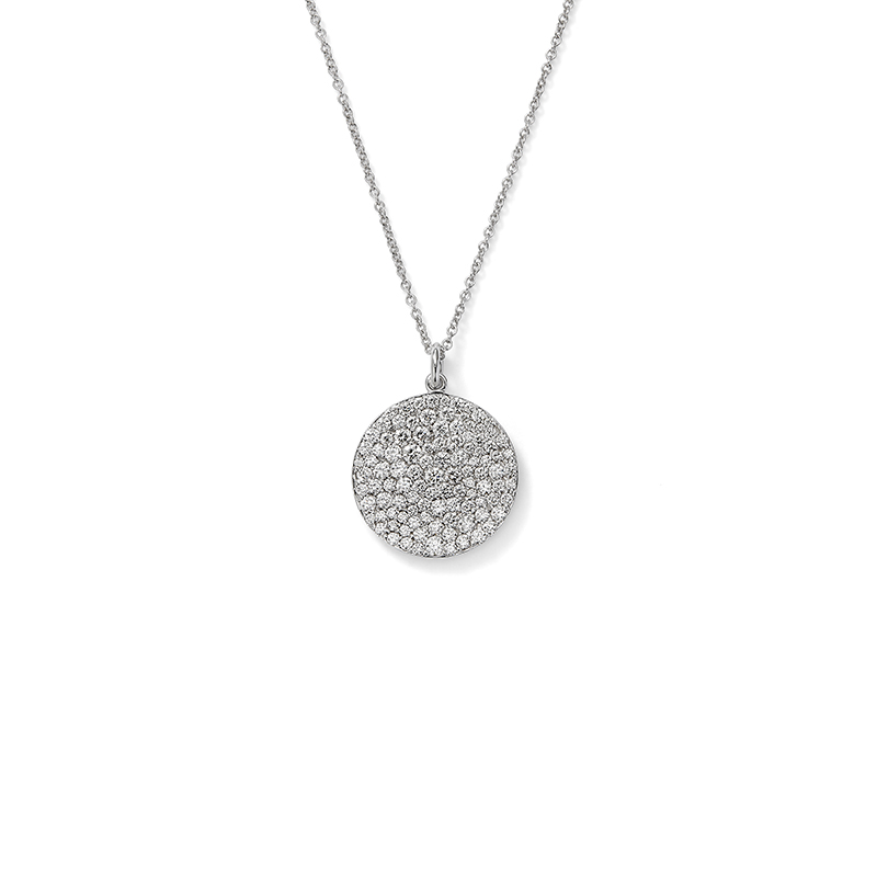 Pavé Diamond Disc Pendant
