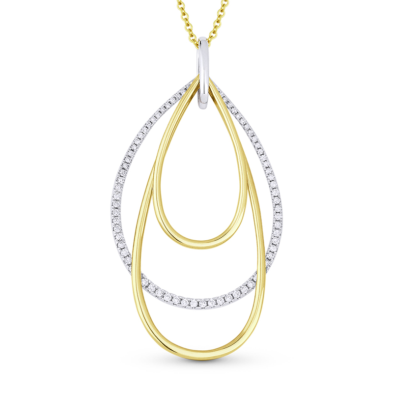 Diamond Tear Drop Pendant