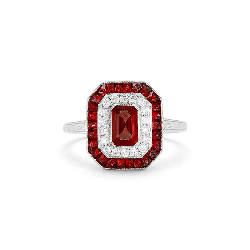 Art Deco Quot Block O Quot Ring Leo Alfred Jewelers