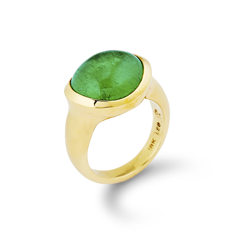 Cabochon Emerald Ring