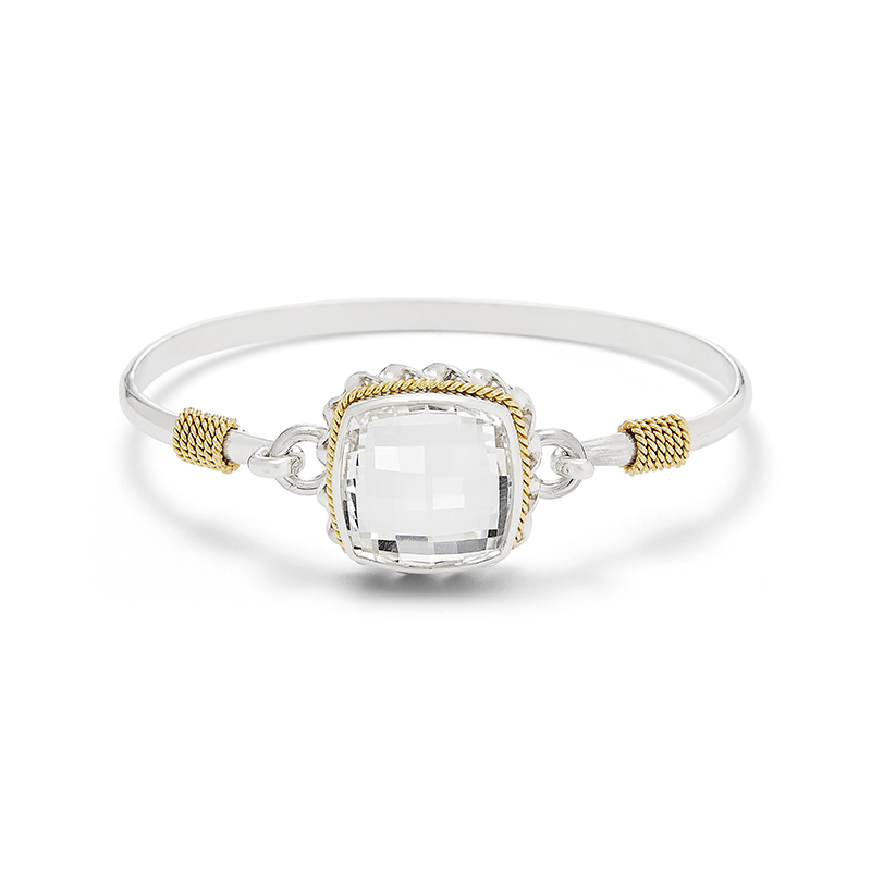 Clear Quartz Bangle Bracelet
