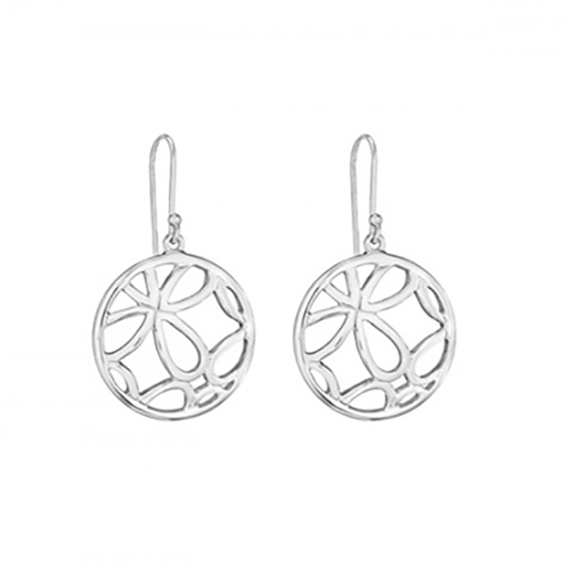 Round Quatrefoil Earrings