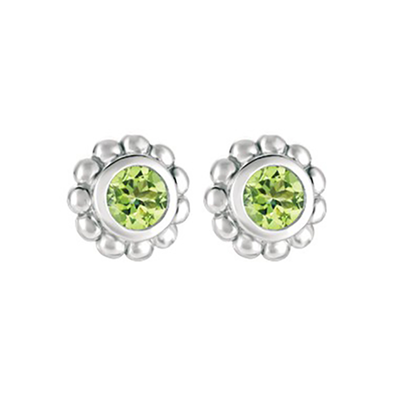 Peridot Beaded Earrings
