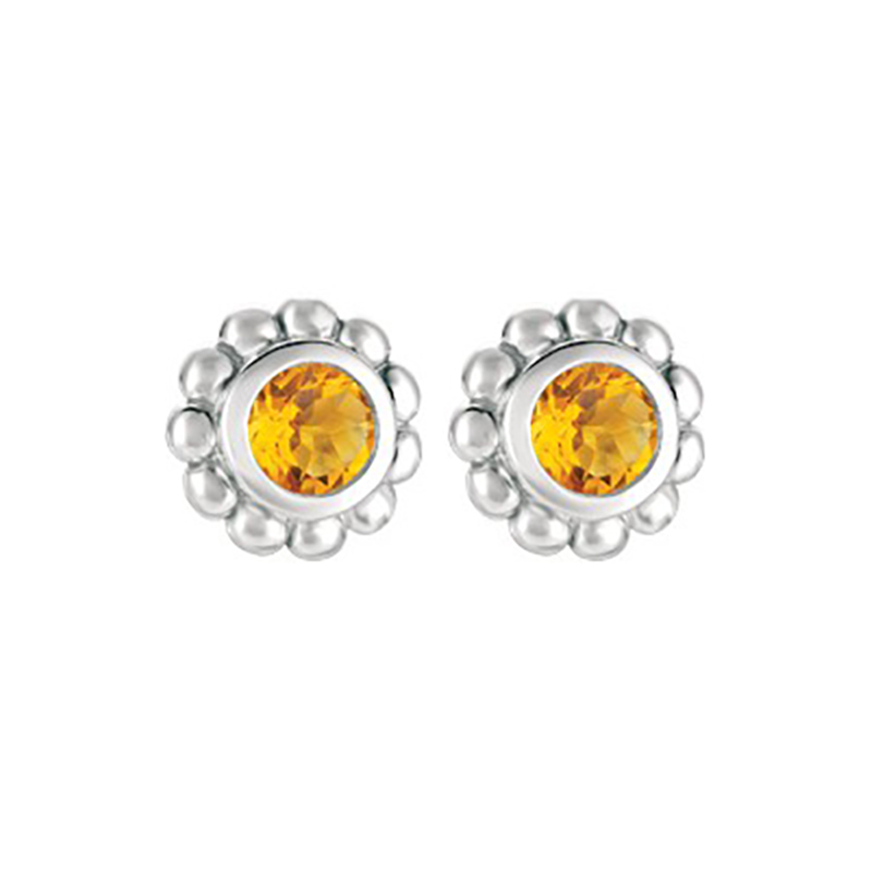Citrine Beaded Earrings