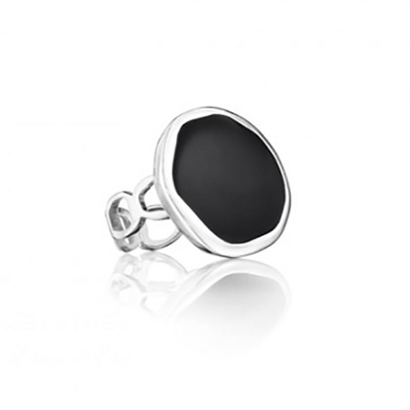 Black Onyx Pebble Ring