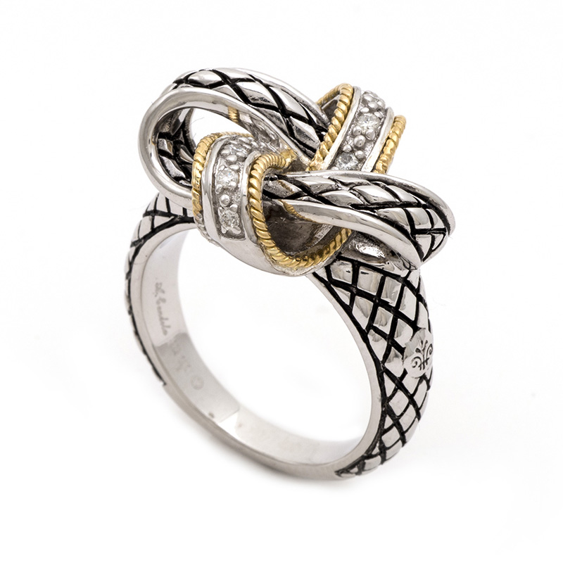 Sterling & 18K Love Knot Ring