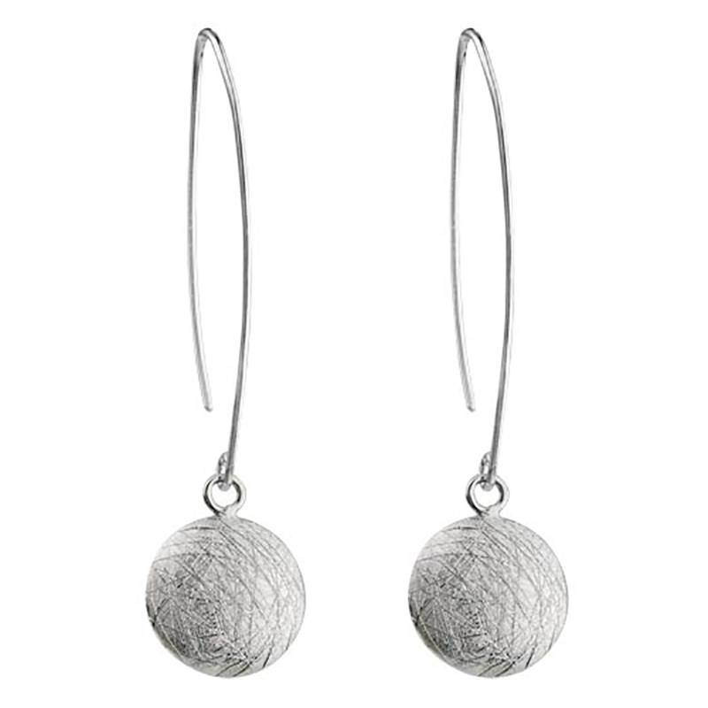 Sterling Silver Textured Drop Earrings
