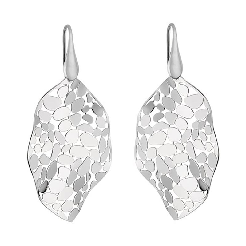 Mosaic Leaf Earrings