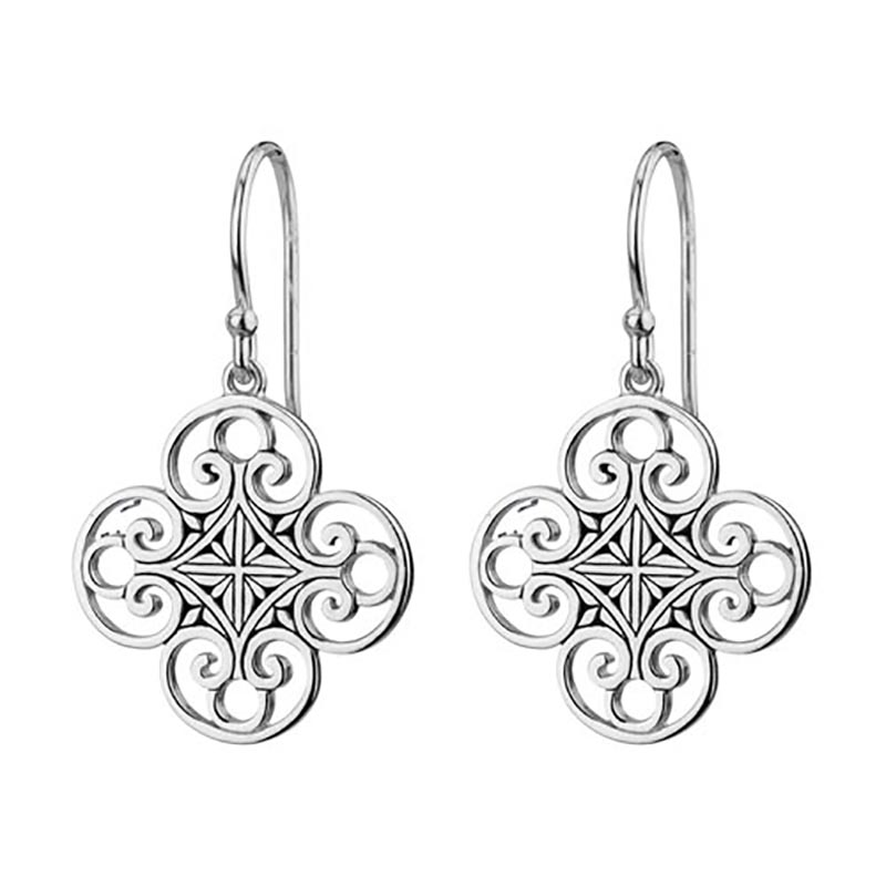 Quatrefoil Filigree Dangle Earrings