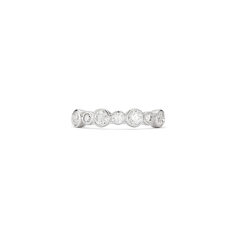 Diamond Bezel Set Band