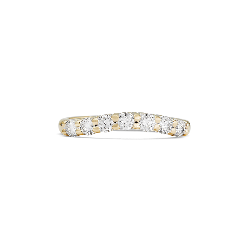 Diamond Contoured Band