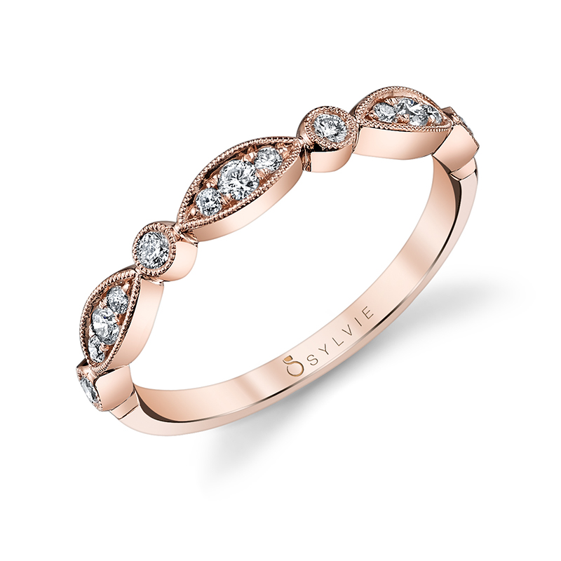 Marquise and Round Shape Band