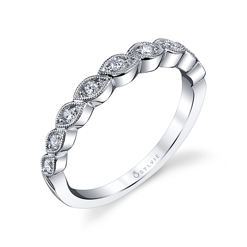 Oblique Marquise Stackable Band