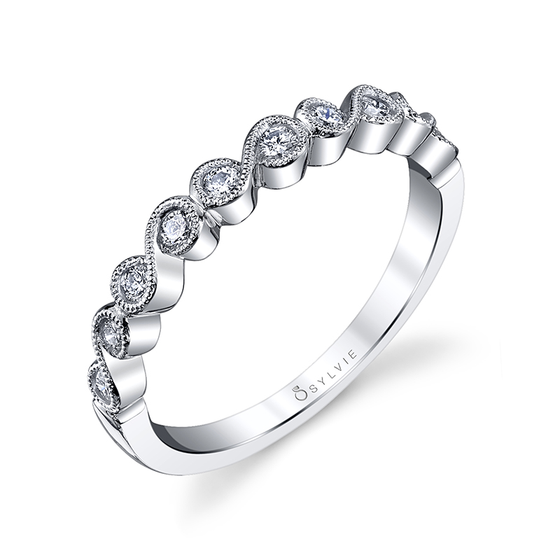 Swirl Stackable Diamond Band