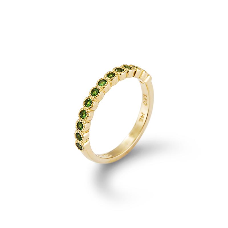 Tsavorite Garnet Stackable Ring